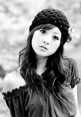 (swanky) Tags: portrait people blackandwhite bw woman cute girl beautiful beauty canon asian eos md model women asia pretty capa taiwan babe belle taipei    taiwanese 2007   30d  beitou      mikako  photoimage     mikako1984 20071014capa  dreamnoir