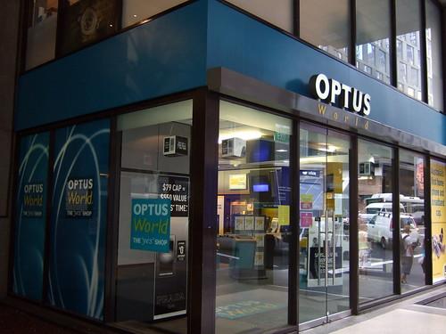 Optus store in Sydney