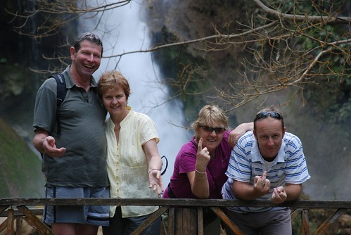 Matt, Pam, Liz, Mark- Waterfall - Luang Prabang - Laos