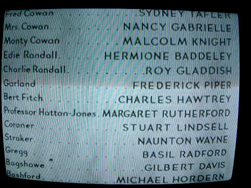 Old School Film Credits