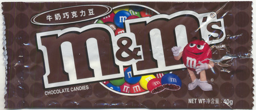 M&Ms wrapper