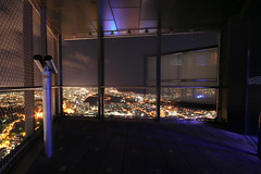 Popping out (Marcus Wong from Geelong) Tags: night melbourne theedge eurekatower observationdeck