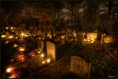 Eternal sleep (Kaj Bjurman) Tags: autumn night dark eos sweden stockholm cemetary graves hdr kaj 2007 cs3 photomatix 40d bjurman