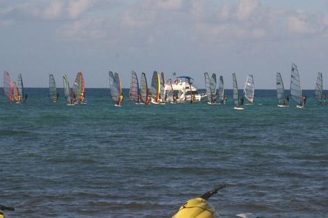 regata de tabla vela Viento y Marea Cozumel 2007