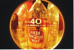 40 (JMaddox) Tags: slr film beer bottles pentax fisheye liquor alcohol maltliquor 800 40oz justpentax oldenglishbeer