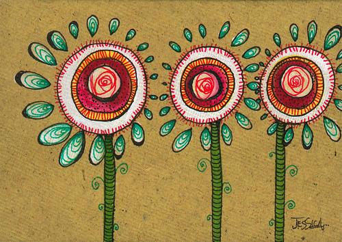 014 - Triplets Floral