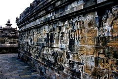 Borobudur Wall Panel with Reliefs (From Afghanistan With Love) Tags: travel canon indonesia java buddha religion buddhism jogja yogyakarta borobudur zeerak safrang hamesha javaid