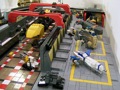 Dock5 at the NCP Shipyard (M.R. Yoder) Tags: pcs lego north central grand shipyard admiral taurus drydock diorama nasal avenger moc jassim giddens positronics smackdan