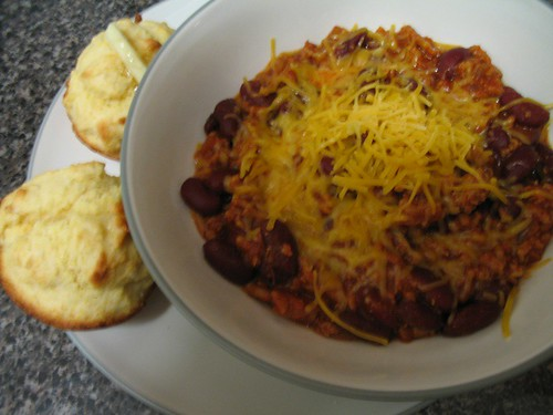 Turkey Chili with Cheese