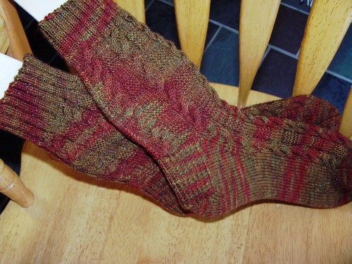 Harvest Cable Socks