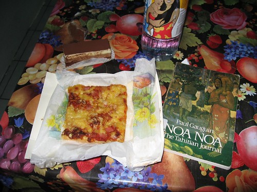 French pizza, pastry and reading