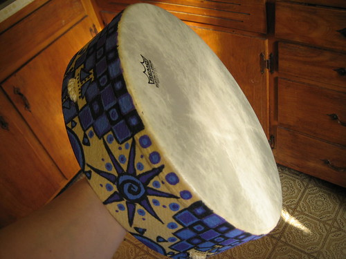 Handpainted Remo Buffalo Drum