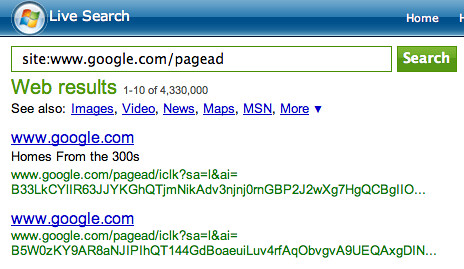 Live Search Indexing Google Ads