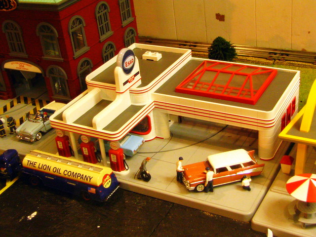 Model Train Display #3 Esso gas station