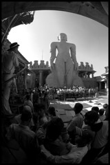 Keep Silent On Premises (Loewenhertz) Tags: india wonder buddhist religion carving historic karnataka jain bahubali monolithic shravanabelagola gomatheswara