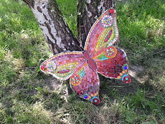Butterfly wall hanging (stiglice - Judit) Tags: butterfly mosaic mosaique wallhanging mozaiek mozaik mosaicbutterfly
