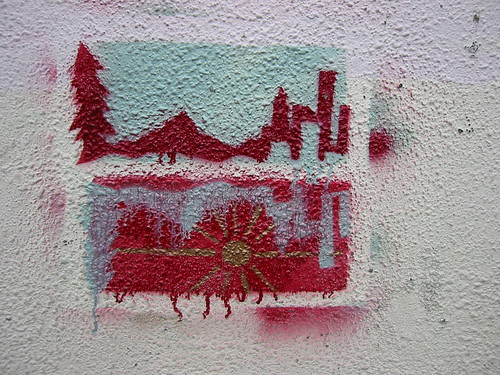 Portland stencil on Division St.