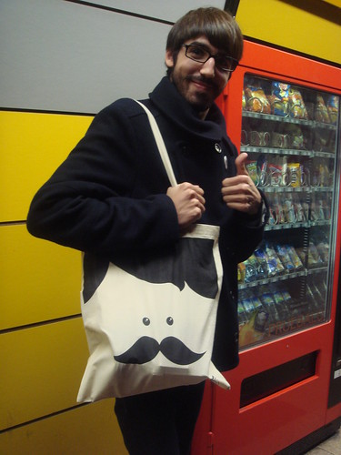 Mr. Moustache & Mr. Moustache tote bag