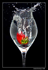 Project: Strawberry on Black (Fraggle Red) Tags: red black green water glass fruit strawberry raw searchthebest flash splash firsttry onblack blueribbonwinner freezemotion supershot canonefs1785mmf456isusm outstandingshots mywinners adobelighroom canonspeedlite420ex platinumphoto superbmasterpiece diamondclassphotographer flickrdiamond megashot ysplix platinumheartaward goldstaraward clevercreativecaptures rickspixtop50 supershotphotooftheweek dvaward