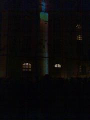 Frauenkirche brennt ein bißchen