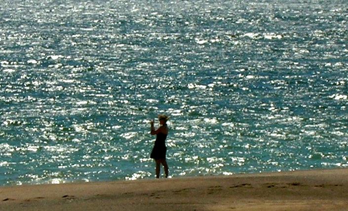 Jen Bills at the ocean