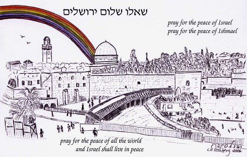 Jerusalem with rainbow copy