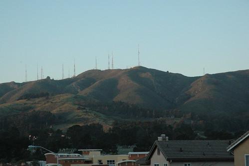 Sunlit hill