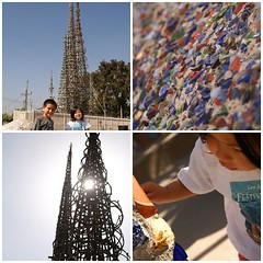watts towers mosaic
