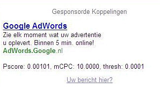 adwords scores