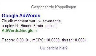 adwords scores