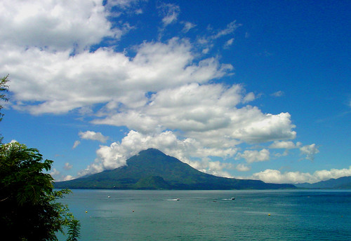 Lake Atitlan and Toliman Volcano