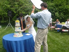 posing for cake-cutting pics (alist) Tags: family wedding alist robison alicerobison ajrobison