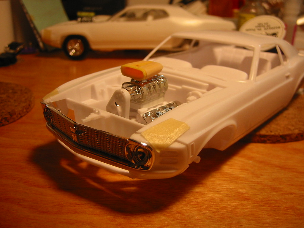 1/24 scale '1970 Boss 429 Mustang' (w/blower) -a Road Warrior model conversion