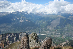 On top of the Illhorn (Chandolin, Switzerland) Photo