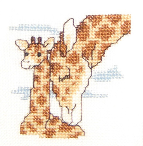 Giraffe Mother and Baby Cross Stitch