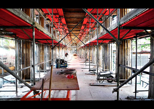 red_scaffold (guess where berlin) by jonas_k, on Flickr