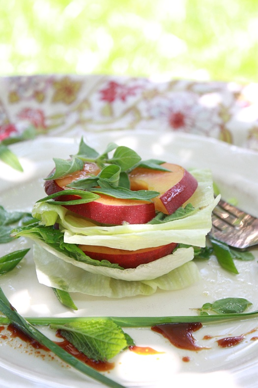 Peaches and Herbs Salad