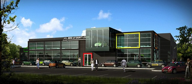 Rendering of Autohaus Mini of St. Louis