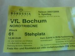 Borussia Dortmund vs. VfL Bochum - Eintrittskarte