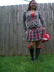 unwrapped (Lorena Cupcake) Tags: urban feet fashion socks clothing shoes dress girly style skirt heels kicks accessories shoegazer fashionvictim kneehighsocks streetstyle lowerhalf brandwhore otks