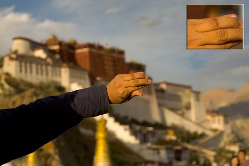 bloodied finger @ Potala Palace
