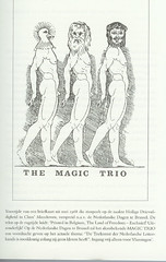 Freddy de Vree, the Magic Trio from Masscheroen by Hugo Claus