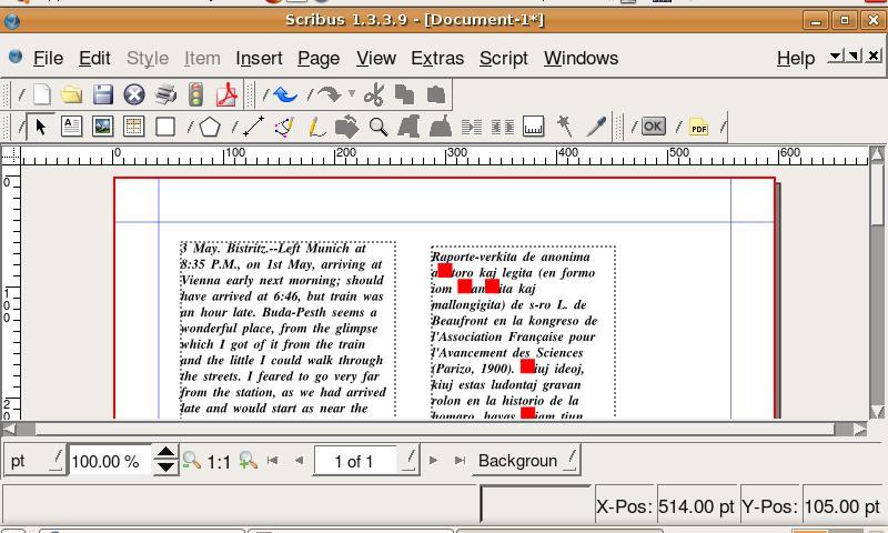 scribus on asus eee under ubuntu 7.10