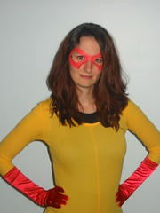 Halloween '07 (u2acro) Tags: party halloween comics allison costume comic spiderman superhero firestar