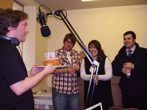 SHOW NO. 6 - Cam Accepts Birthday Cake From The SA Gang.