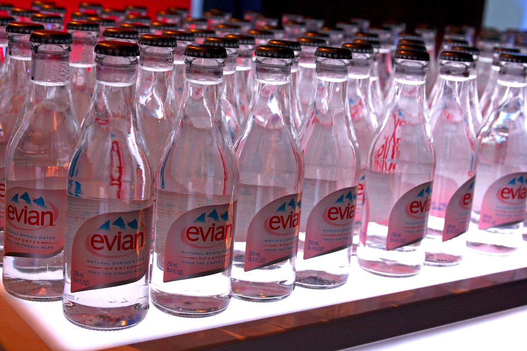 A whole lot of Evian