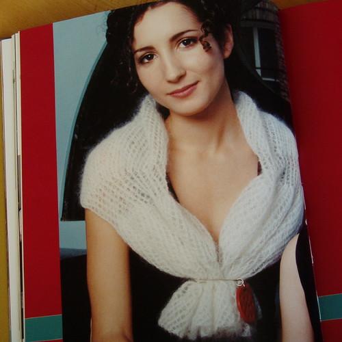 mohair portrait scarf