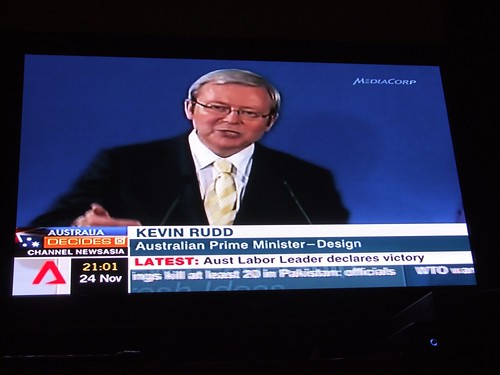 Kevin Rudd wins 2007 Australian federal elections!
