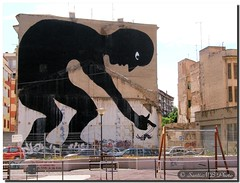 Ephemeral art / Arte efímero (SantiMB.Photos) Tags: españa art graffiti spain mural arte murcia urbano sam3 marginal callejero castillejo mywinners vacaciones2007