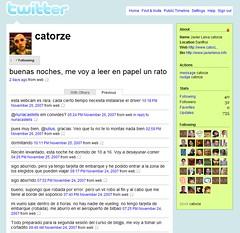 el tuiter de catorze